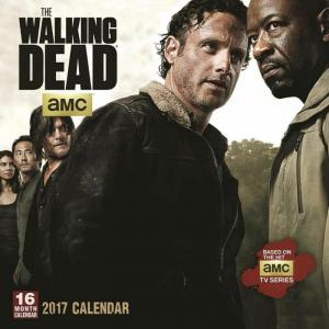 The Walking Dead 2017 Wall Calendar - New/Sealed!