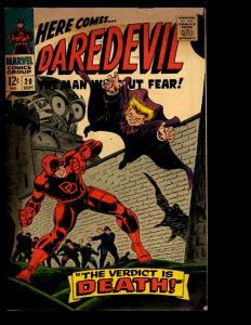 Daredevil # 20 VG/FN Marvel Comic Book Owl Appearance Defenders NE3