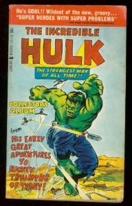 INCREDIBLE HULK-COLLECTORS ALBUM PAPERBACK 1966-J KIRBY FN/VF