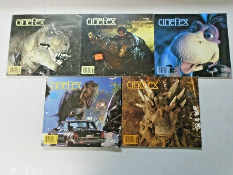 Cinefex Dinosaurs Lot 5 Different Average 6.0 FN (1993-1997)