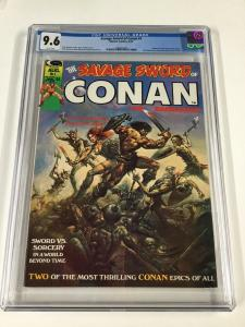 Savage Sword Of Conan Cgc 9.6 White Pages 1974 Magazine