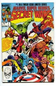 MARVEL SUPER HEROES SECRET WARS #1  comic book 1984-SPIDER MAN Marvel - VF/NM