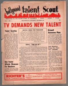Hollywood Talent Scout 9/1/1955-1st issue-newsletter format-historic-FR