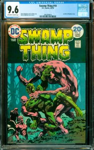 Swamp Thing #10 CGC Graded 9.6 Last Bernie Wrightson issue.