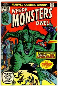WHERE MONSTERS DWELL 28 VG-F May 1974