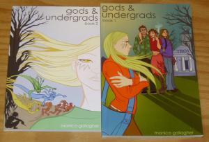 Gods & Undergrads #1-2 VF/NM complete series MONICA GALLAGHER greek gods family