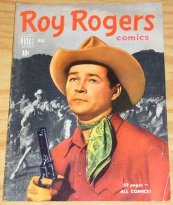 Roy Rogers Comics #39 VG/FN march 1951 - golden age dell comics western - 52 pgs