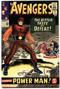 AVENGERS #21 1965-FIRST POWER MAN-MARVEL- VF