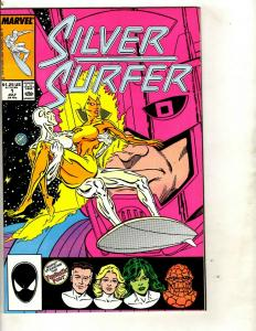 Lot of 9 Marvel Comic Books Silver Surfer 1 2 1 + Silver Sable 1 2 3 4 15 17 DS2