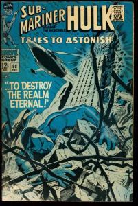 TALES TO ASTONISH #98-SUB-MARINER/HULK-MARVEL 12 CENT G/VG