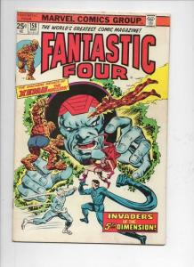 FANTASTIC FOUR #158, VG/FN, Xemu, 5th Dimension, 1961 1975, more FF in store
