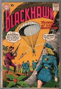 Blackhawk #140 1959-DC-Return of Lady Blackhawk-2nd appearance-FR