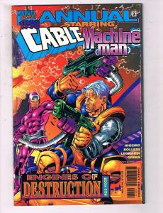 1998 Annual Starring Cable & Machine Man #1 VF Marvel Comic Book X-Men DE14