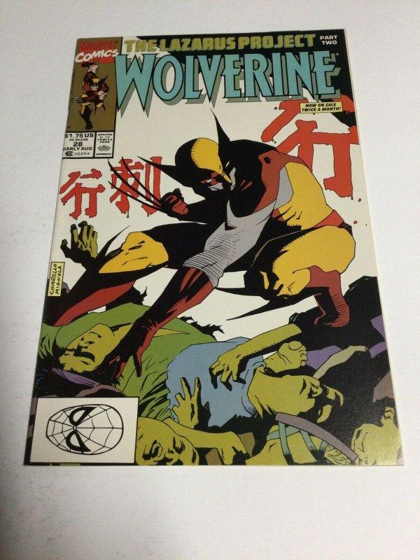 Wolverine 28 Nm Near Mint Marvel