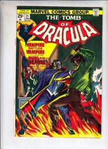 Tomb of Dracula #21 (Jun-74) FN/VF+ High-Grade Dracula