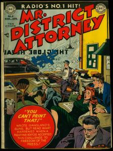 Mr. District Attorney #8 1949- DC Golden Age- Drive By cover G