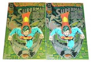 Superman #82 + rare gold transparent error variant - reign of the supermen - DC