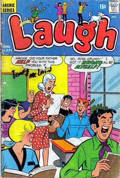 Laugh Comics #231, Fine (Stock photo)