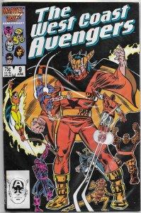West Coast Avengers (vol. 2, 1986) # 9 FR Englehart/Milgrom, Thing