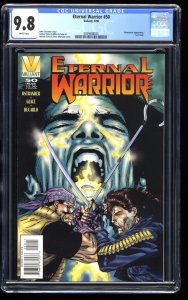 Eternal Warrior #50 CGC NM/M 9.8 White Pages Last Issue! Scarce!