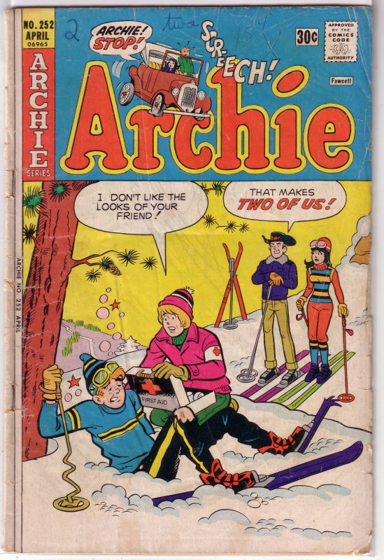 Archie   vol. 1   #252 GD skiing cover
