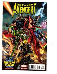 UNCANNY Avengers # 1 NM Marvel Midtown Comics NYC J. Scott Campbell Variant TW65