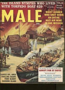 MALE MAGAZINE DECEMBER 1962- WAR-CRIME-CHEESECAKE PICTURES- VF-