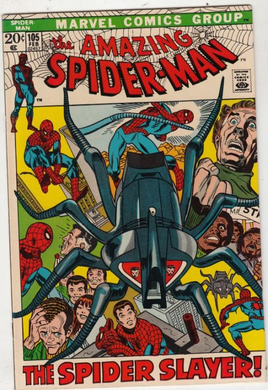 Amazing Spider-Man #105 (Feb-72) NM/NM- High-Grade Spider-Man