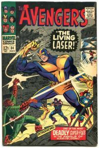 The Avengers #34 1966- The Living Laser- Marvel FN+
