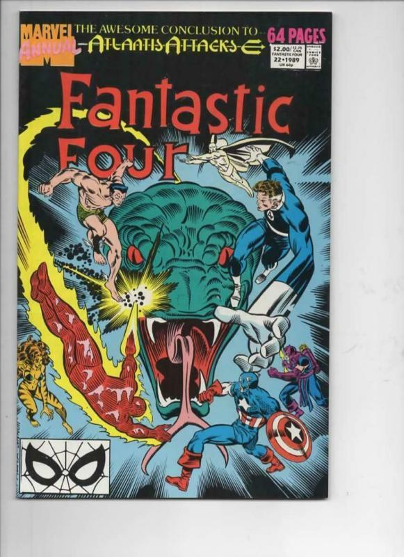 FANTASTIC FOUR #22 Annual, VF/NM, Sub-Mariner, Atlantis, 1961 1989, Marvel