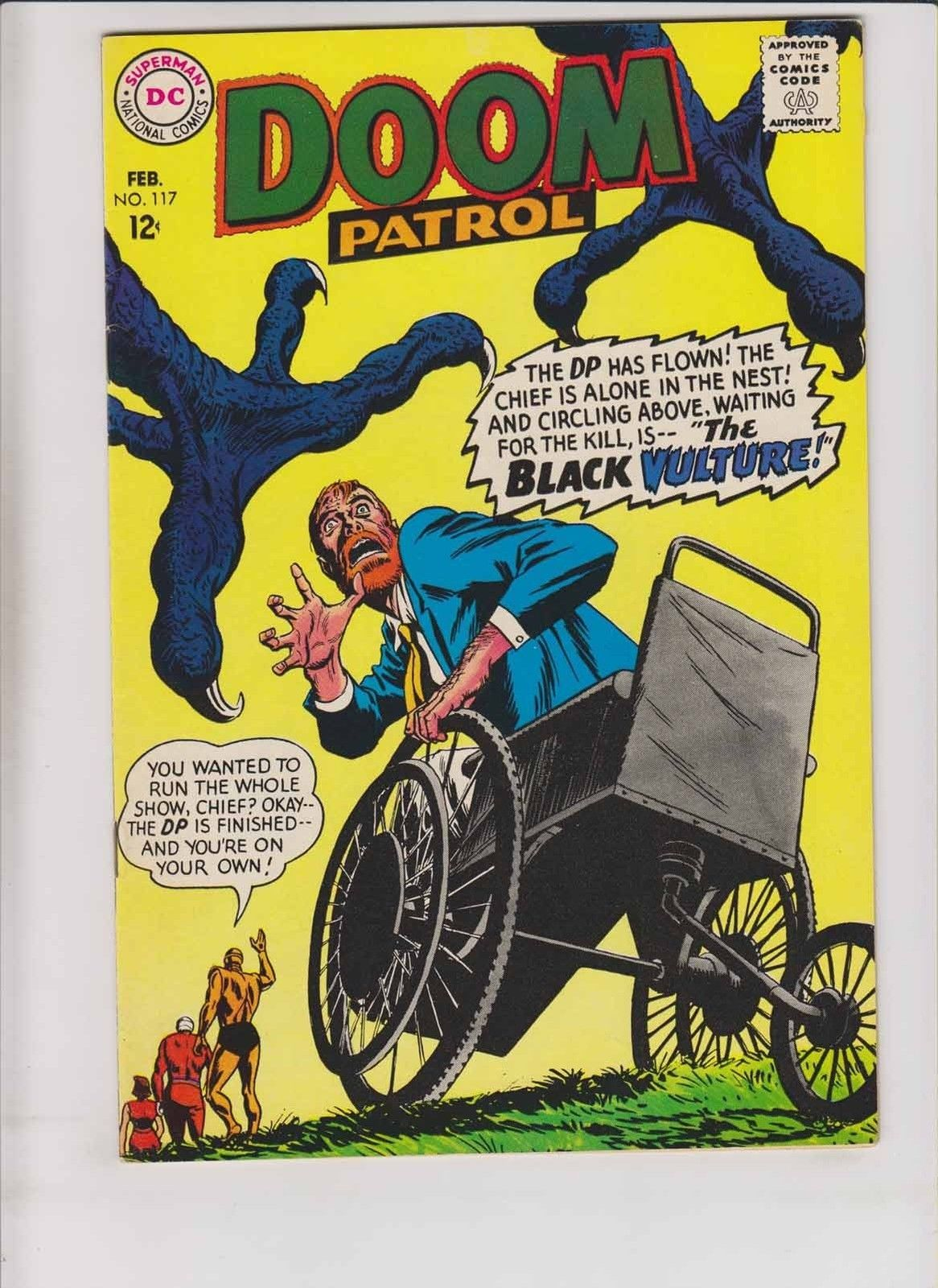 Doom Patrol 117 Vf February 1968 Black Vulture Silver Age Dc