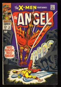 X-Men #44 VG/FN 5.0 1st Silver Age Red Raven!
