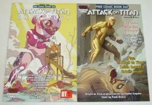 Attack on Titan Anthology FCBD 2016-2017 VF/NM complete set lot kodansha 2
