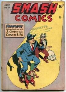 Smash Comics #59 1945- Midnight- Lady Luck- Daffy Golden Age VG