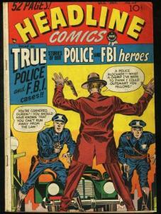HEADLINE COMICS #33-SIMON & KIRBY ART-PRE-CODE CRIME VG