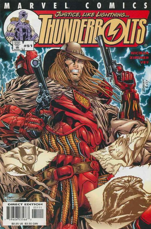 Thunderbolts #51 VF/NM; Marvel | save on shipping - details inside