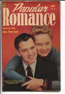 Popular Romance #28 1954-Standard-Tony Randall-Georgeanne Johnson-VG+