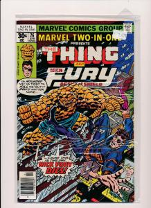 MARVEL TWO IN ONE-The THING & Nick Fury Agent of Shield #26  F/VF(SRU248)