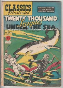 Classic Comics #47 (May-48) VG+ Affordable-Grade Captain Nemo