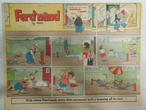 (8) Ferd'Nand Sunday Pages by Mik from 1950's Size: 11 x 15 inches Pantomine !