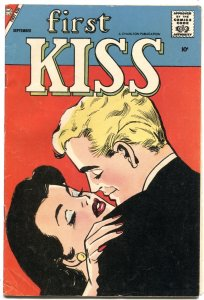 FIRST KISS #5--1958--EYE CATCHING COVER---ROMANCE-CHARLTON---RARE
