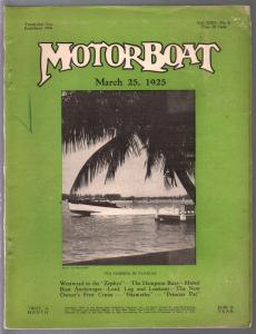 Motorboat 3/25/1925-Zephyr-Hampton Boat-pix-info-classic ads-FR/G