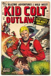 Kid Colt Outlaw #44 1955- Black Rider- Atlas Western FN-
