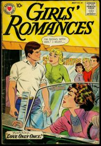 Girls' Romances #691 1960- DC Romance- Soda shop & convertible cover VG