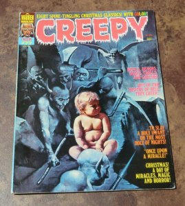 Creepy #77 FN- 1976 Warren Horror Magazine Christmas Classics Devils Demons