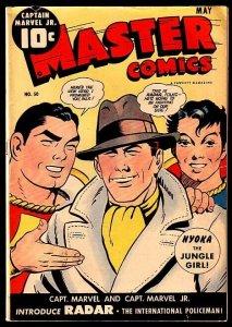 MASTER COMICS-#50-CAPTAIN MARVEL COVER-RADAR FN/VF