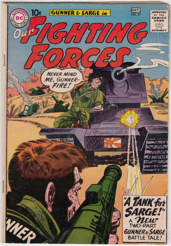 Our Fighting Forces #57 (Oct-60) VG+ Affordable-Grade Gunner