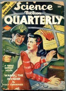 Science Fiction Quarterly Pulp Spring 1943- Ray Cumings-Flying Saucer cover G/VG