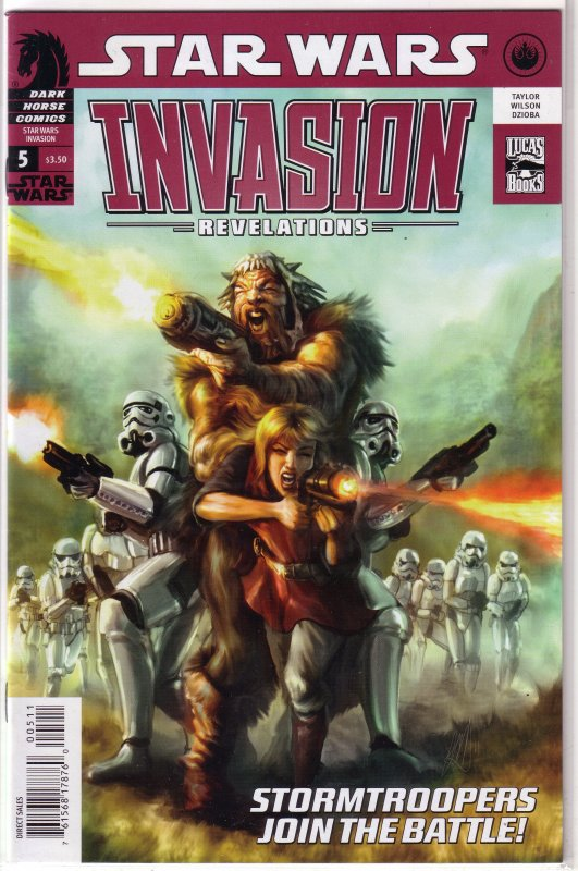 Star Wars: Invasion -- Revelations #5 of 5 VF Taylor/Wilson, Scalf cover