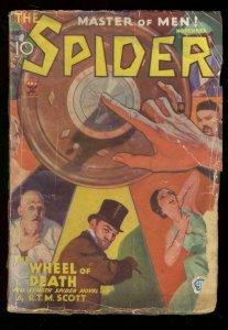 THE SPIDER NOV 1933 WHEEL OF DEATH #2 RTM SCOTT  PULP G-